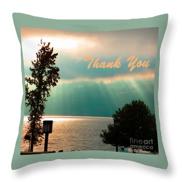 Thank You  Throw Pillow by Vi Brown