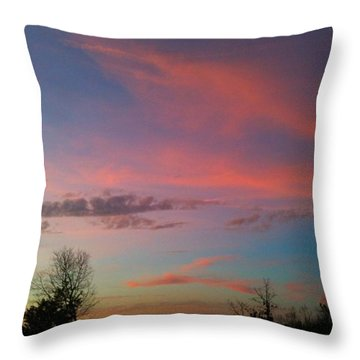Throw Pillow featuring the photograph Thankful For The Day by Linda Bailey