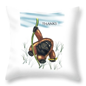 Thanks Throw Pillow by Jerry Ruffin