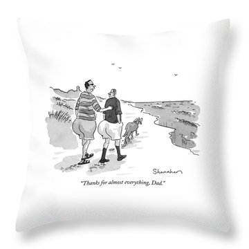 Thanks For Almost Everything Throw Pillow by Danny Shanahan