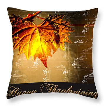 Thanksgiving Card Throw Pillow