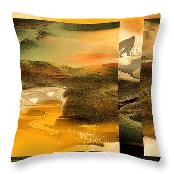 Throw Pillow featuring the digital art That Far Shore by Ginny Schmidt