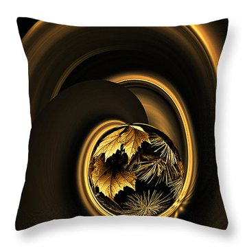 Throw Pillow featuring the photograph That Midas Touch by Judy  Johnson