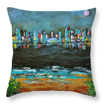 That Other Place Throw Pillow by Reb Frost