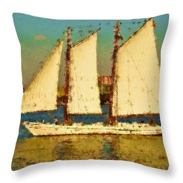 That Ship Throw Pillow by Alice Gipson