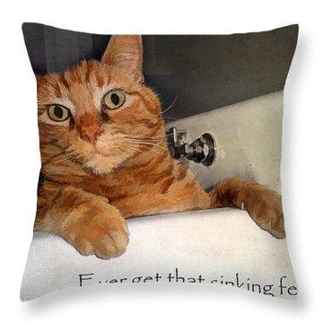 That Sinking Feeling Throw Pillow