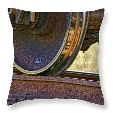 That Train Just Keeps A Rollin Throw Pillow by Gary Holmes