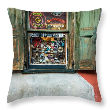 Voodoo Shop Throw Pillows