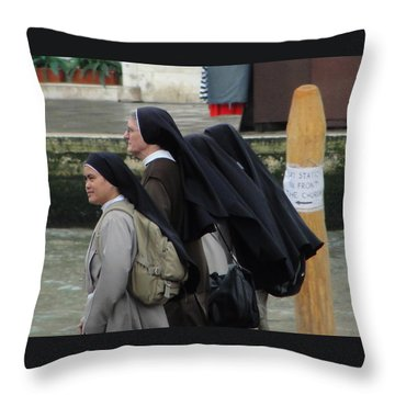 Throw Pillow featuring the photograph Posted Directions by Natalie Ortiz