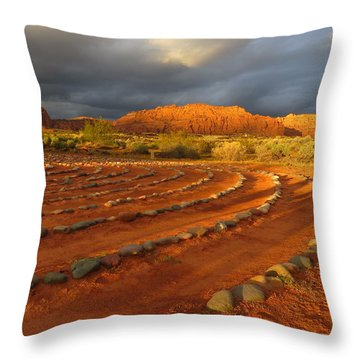 Throw Pillow featuring the photograph St George, Utah by Jean Marie Maggi