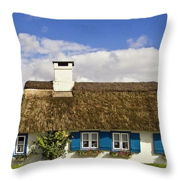Thatched Country House Throw Pillow by Heiko Koehrer-Wagner
