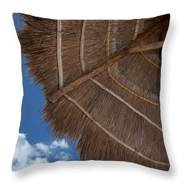 Thatched Umbrella Throw Pillow