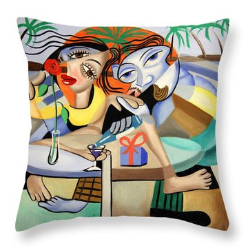 Thats Amora Throw Pillow by Anthony Falbo