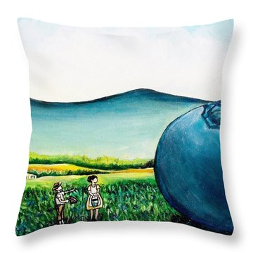 That's Gonna Make A Lot Of Pies Throw Pillow by Shana Rowe Jackson