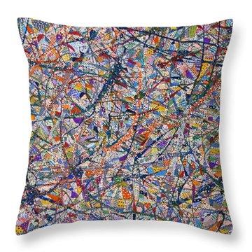 That's Life Throw Pillow by Erika Pochybova