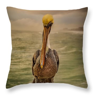 That's Mr. Pelican To You Throw Pillow by Steven Reed
