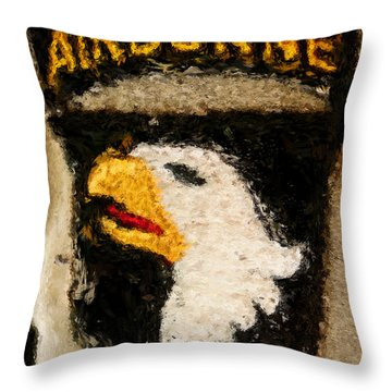 The 101st Airborne Emblem Painting Throw Pillow