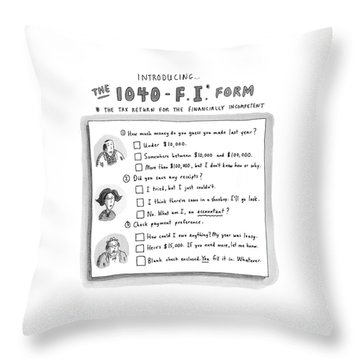The 1040 F.i. Form Throw Pillow