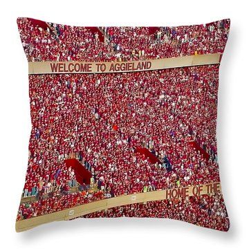 The 12th Man Throw Pillow