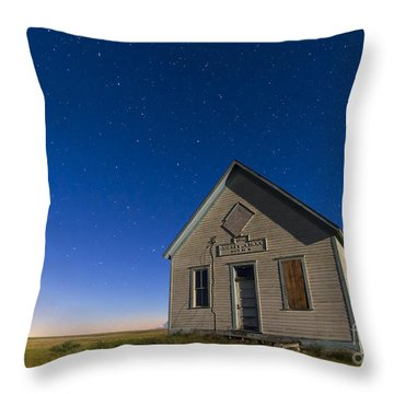 The 1909 Liberty School On The Canadian Throw Pillow