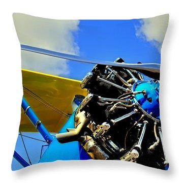 The 1940 Stearman Pt-18 Kadet Throw Pillow