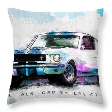 The 1965 Ford Shelby Gt 350  Throw Pillow