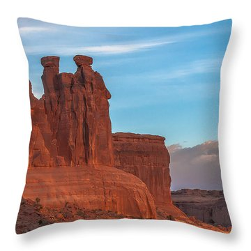 The 3 Gossips  Throw Pillow