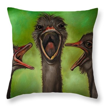 The 3 Tenors Edit 2 Throw Pillow by Leah Saulnier The Painting Maniac