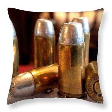 Bullet Art 32 Caliber Hollow Point Bullet 1 Throw Pillow by Lesa Fine