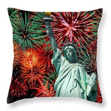 Independance Day Throw Pillow