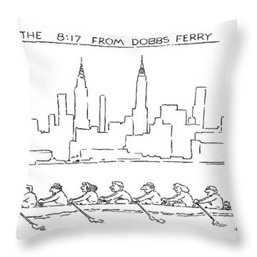 The 8:17 From Dobbs Ferry Throw Pillow
