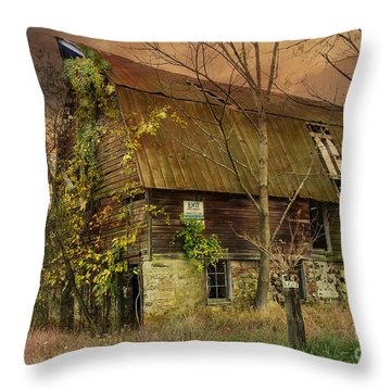 The Abandoned Barn Throw Pillow
