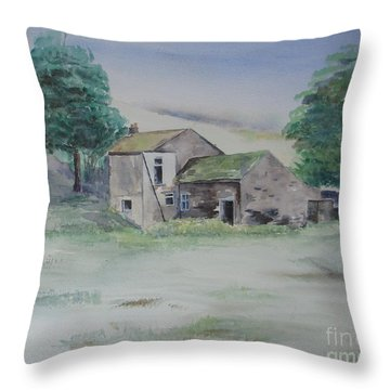 The Abandoned House Throw Pillow