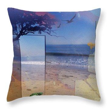 The Abstract Beach Throw Pillow by Bedros Awak