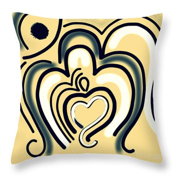 The Abstract Om-2 Throw Pillow