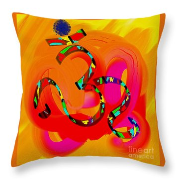 The Abstract Om-3 Throw Pillow