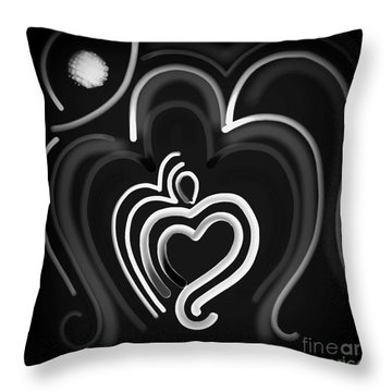 The Abstract Om  Throw Pillow