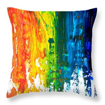 The Abstract Rainbow Beach Series I Throw Pillow by M Bleichner