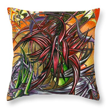 The Abysmal Demon Of Hair Throw Pillow by Shawn Dall