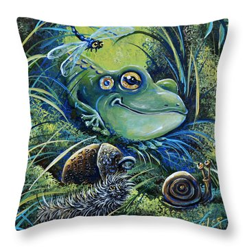 The Acorn Throw Pillow by Gail Butler