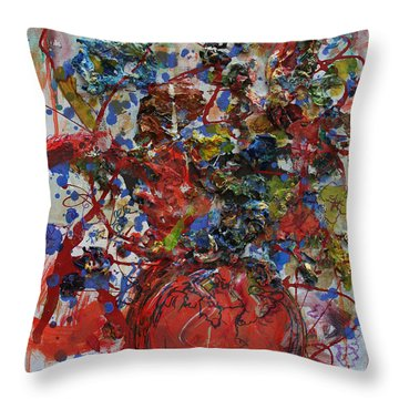 The Acrylic Bouquet  Throw Pillow by Avonelle Kelsey