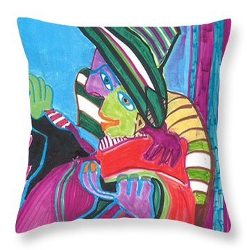 Throw Pillow featuring the drawing The Actor by Don Koester
