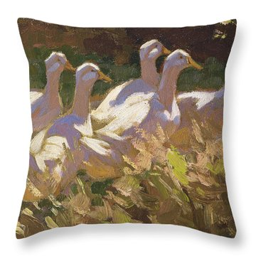 The Adventurers Throw Pillow by Edgar Downs