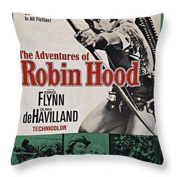 The Adventures Of Robin Hood B Throw Pillow