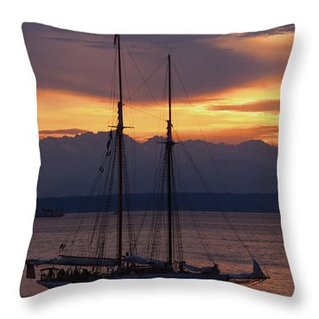The Adventuress Cruise Throw Pillow by Kym Backland