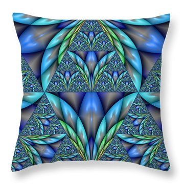 Throw Pillow featuring the digital art The Age Of Art Deco by Manny Lorenzo
