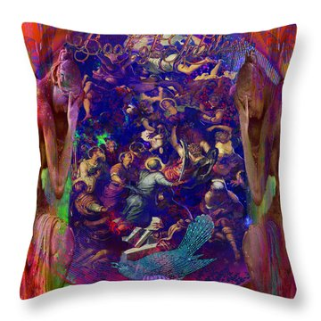 Solar Age  Throw Pillow by Joseph Mosley
