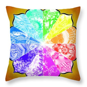 The Age Of Pisces Throw Pillow by Derek Gedney