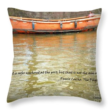 The Aim Of Boats Throw Pillow