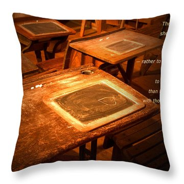 The Aim Of Education Throw Pillow